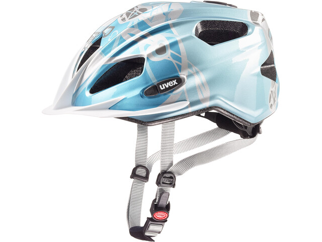 UVEX Quatro Cykelhjelm Børn sølv/petroleumsgrøn (2019) | Helmets